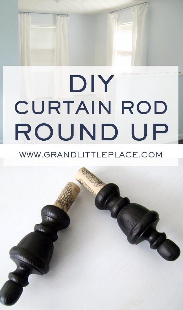 diy curtain rod tutorials