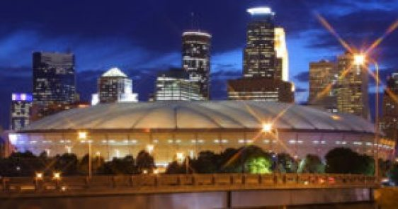 The Metrodome in Minneapolis