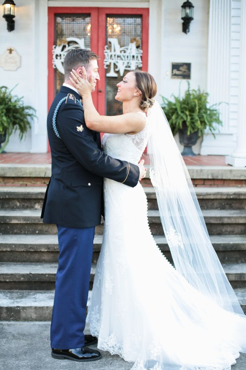 Military wedding day at the Grand Magnolia House