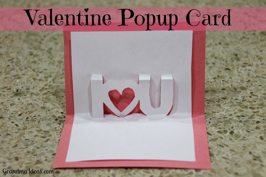 Popup Valentine Card Grandma Ideas