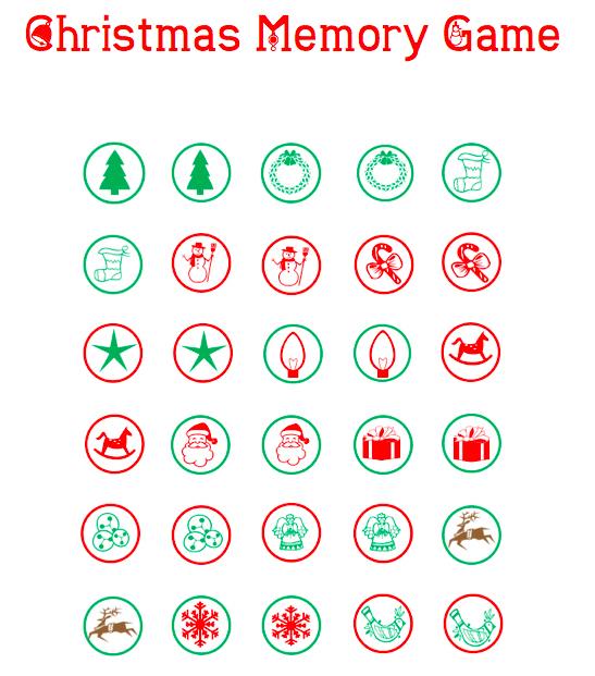 Christmas Memory Game Grandma Ideas