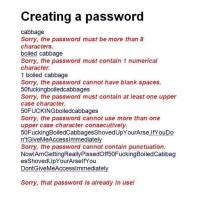The Joy of Password Creation