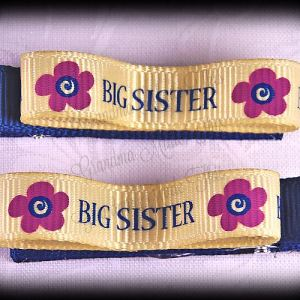 Big Sister Lil Loop Ribbon Hair Clip Set