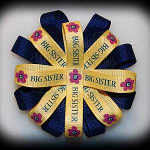 Big Sister Loopy Flower Bow