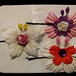 Mulberry Paper Butterfly Bobby Pin Set 10