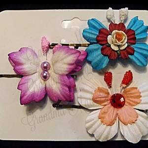 Mulberry Paper Butterfly Bobby Pin Set 18