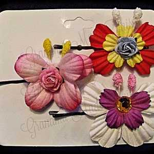 Mulberry Paper Butterfly Bobby Pin Set 6