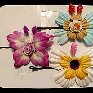 Mulberry Paper Butterfly Bobby Pin Set 9