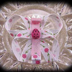 Flowers Butterfly Ribbon Sculpture Hair Clips