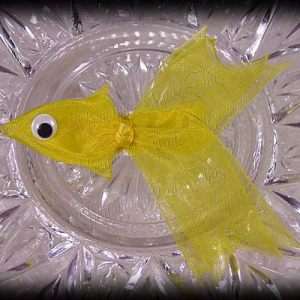 Yellow Fancy Tails Fish Ribbon Sculpture Hair Clip