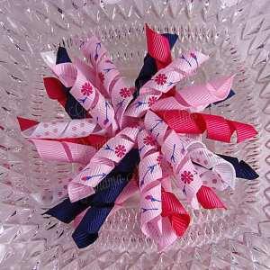 Flowers n Buds Pink 2 Korker Ribbon Bow