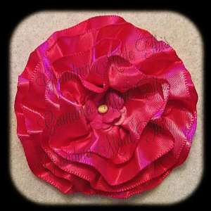 Pinks Frilly Flower Hair Bows