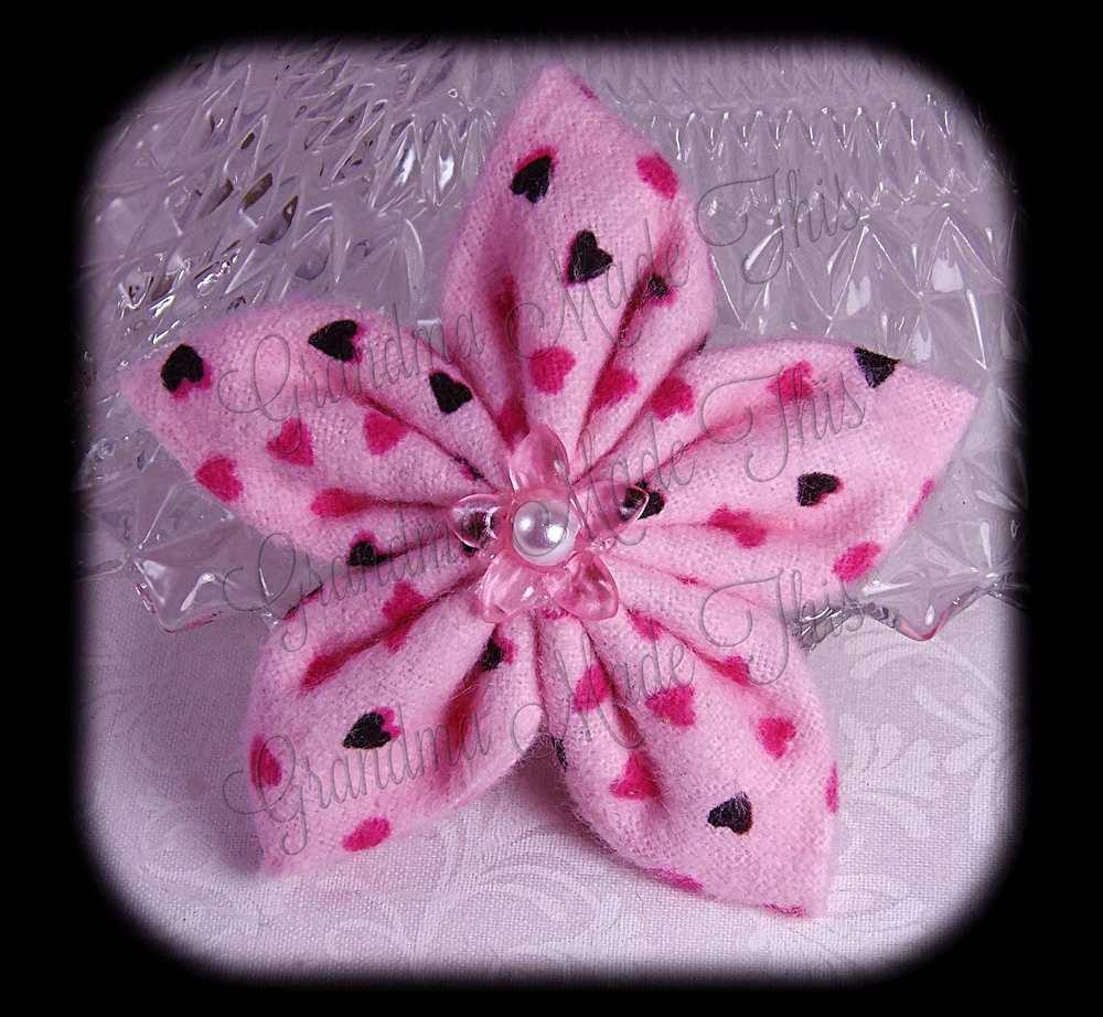 Kanzashi 5 Petal Star Flannel Flower 5