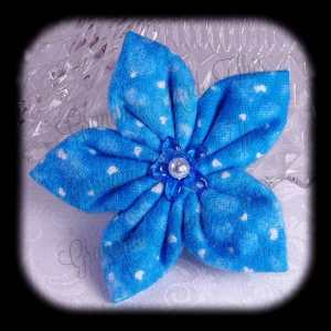 Kanzashi Flannel Star Hair Bow 7