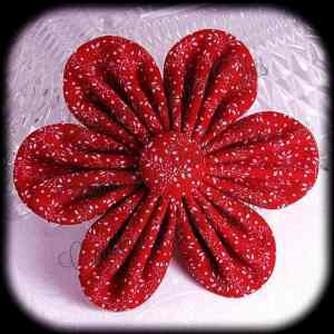 Kanzashi Flower Orchid Petals Down Hair Bow 5
