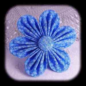 Kanzashi Flower Orchid Petals Up Hair Bow 11
