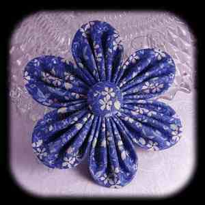 Kanzashi Flower Orchid Petals Up Hair Bow 13