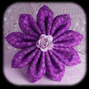 Kanzashi Flower Petals Down Hair Bow 16