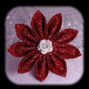 Kanzashi Flower Petals Up Hair Bow 1