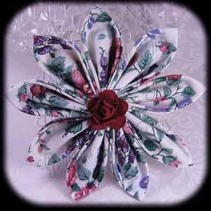 Kanzashi Flower Petals Up Hair Bow 10