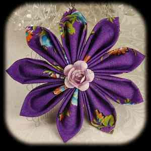 Kanzashi Flower Petals Up Hair Bow 8