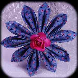 Kanzashi Flower Petals Up/Down Hair Bow 1