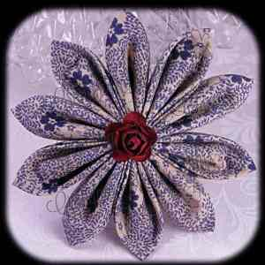 Kanzashi Flower Petals Up/Down Hair Bow 3