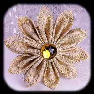 Kanzashi Flower Petals Up/Down Hair Bow 5