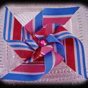 Large Stacked Pinwheel Hair Clips Pinks