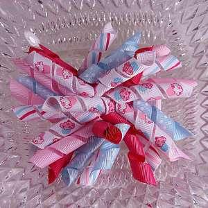 Pink Blue Cupcakes 2 Korker Ribbon Bow
