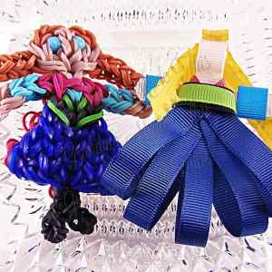 Princess Anna Ribbon Sculpture Hairclip Loom Doll Set