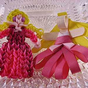 Princess Aurora Ribbon Sculpture Hairclip Loom Doll Set