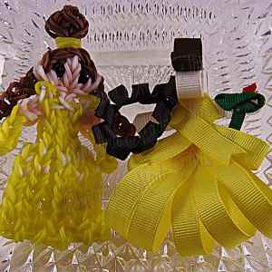 Princess Belle Ribbon Sculpture Hairclip Loom Doll Set 2