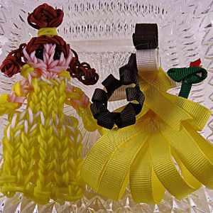 Princess Belle Ribbon Sculpture Hairclip Loom Doll Set