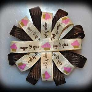 Sugar-N-Spice Loopy Flower Bow