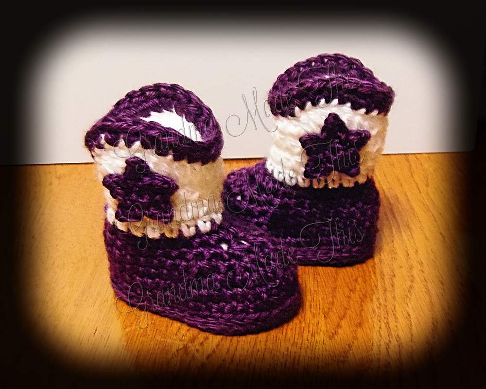 Cowgirl Boots - Purple White