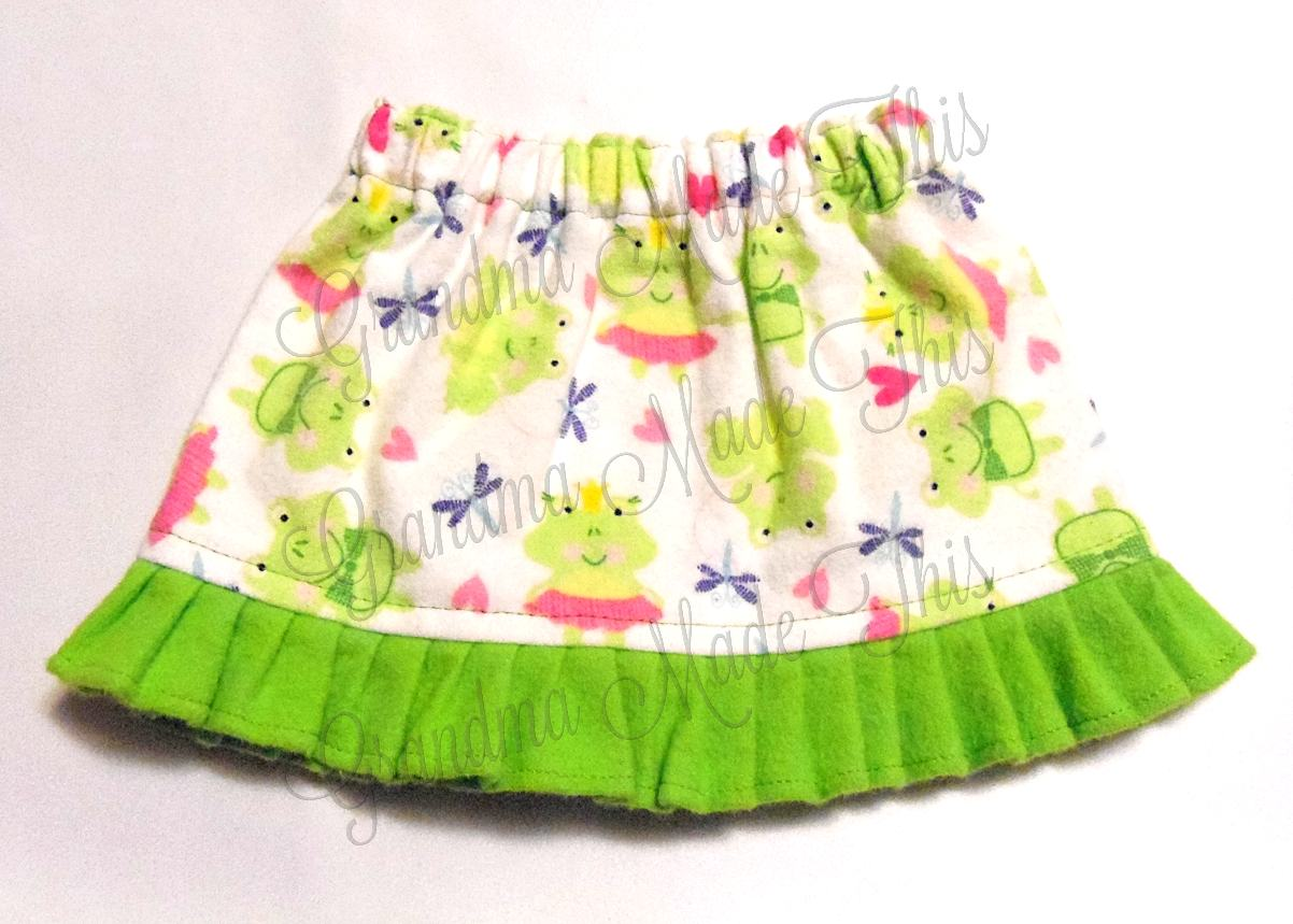 skirt princess frog prince frog flannel skirt
