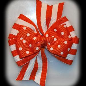 Stacked Quad Pinwheel Polka Dots