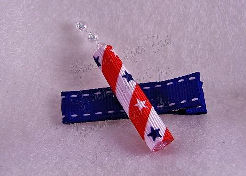 Firecracker Hairclip Blue-Medium (2)