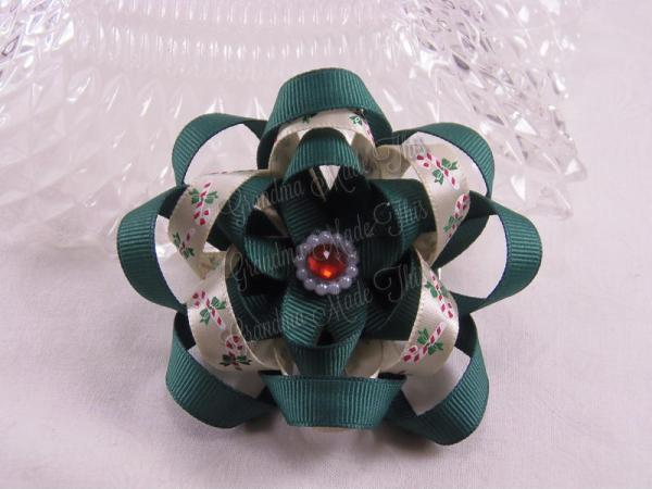 Layered Ribbon Sculpture Flower Hair Bow (2)
