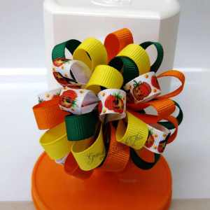 Halloween Loopy Puff Ball Hair Bow