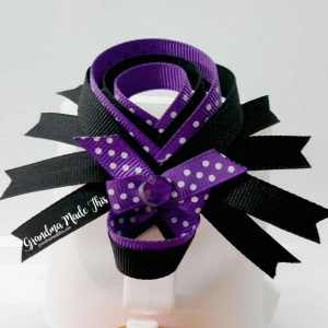 Halloween Spider Ribbon Sculpture Large Hairclips