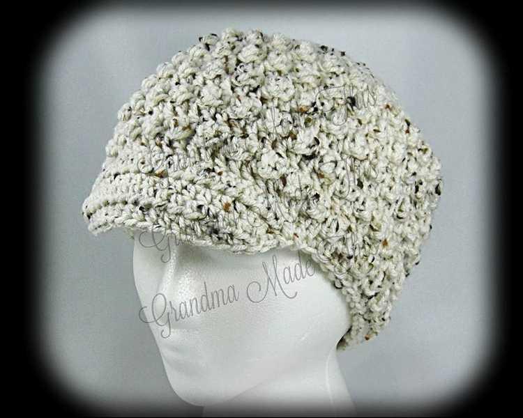 Crochet Newsboy Hat - Touch of Fall