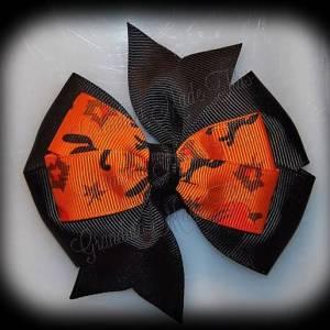Halloween Stacked Quad Pinwheel Hair Bows