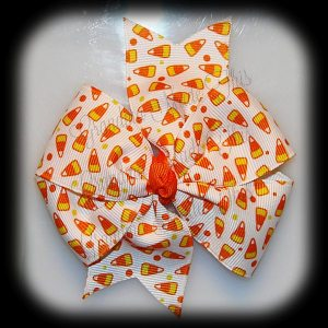 Halloween Large Quad Pinwheel Hair Bows