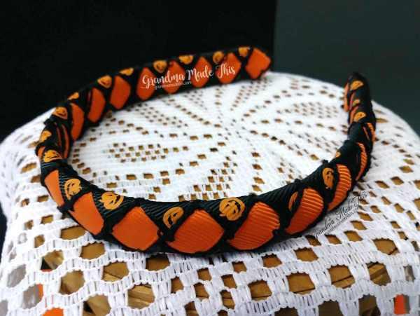 Halloween Child Woven Headband Pumpkins Orange