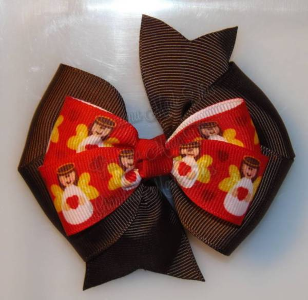 Christmas Stacked Quad Hair Bows