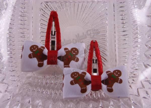 Dancing Gingerbread Men Snap Clippies 40mm