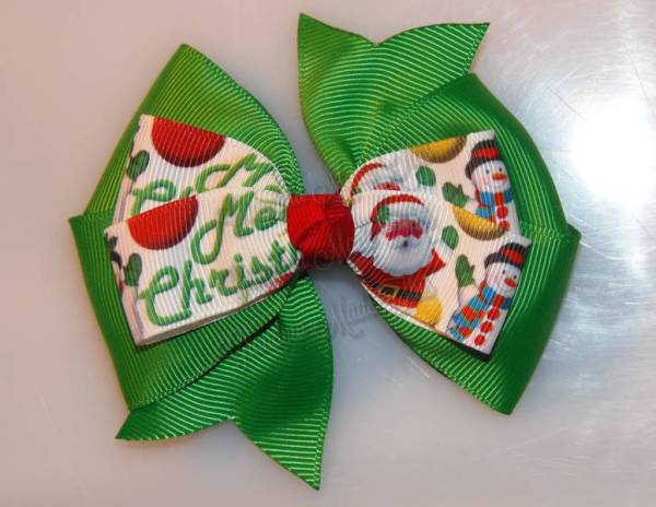 Merry Christmas Stacked Quad Pinwheel