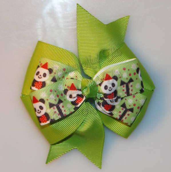 Panda Presents Stacked Quad Pinwheel